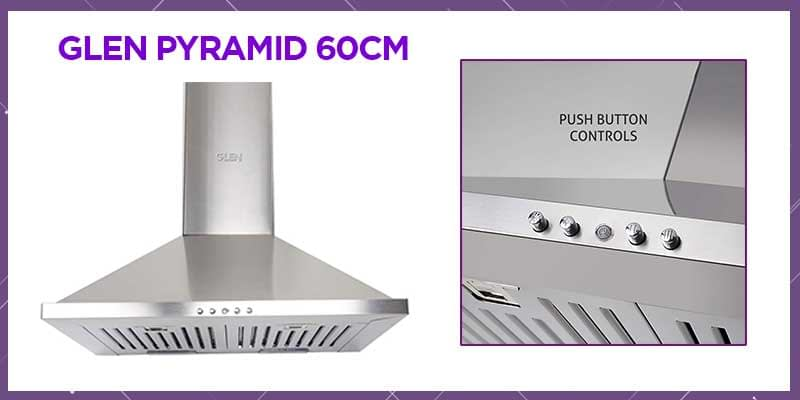 Glen 60cm 1000 m³/h Pyramid Kitchen Chimney
