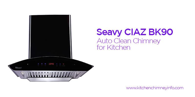 auto clean chimney for kitchen